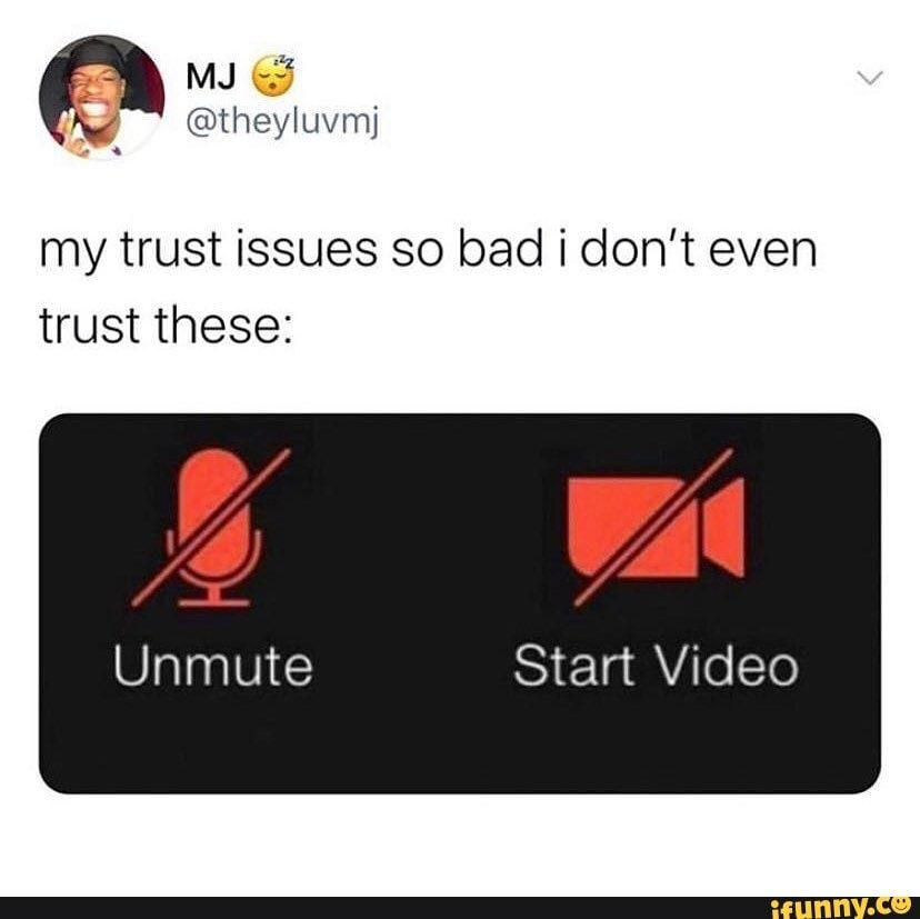 @theyluvmj my trust issues so bad don't even trust these: WA Unmute Start Video - )