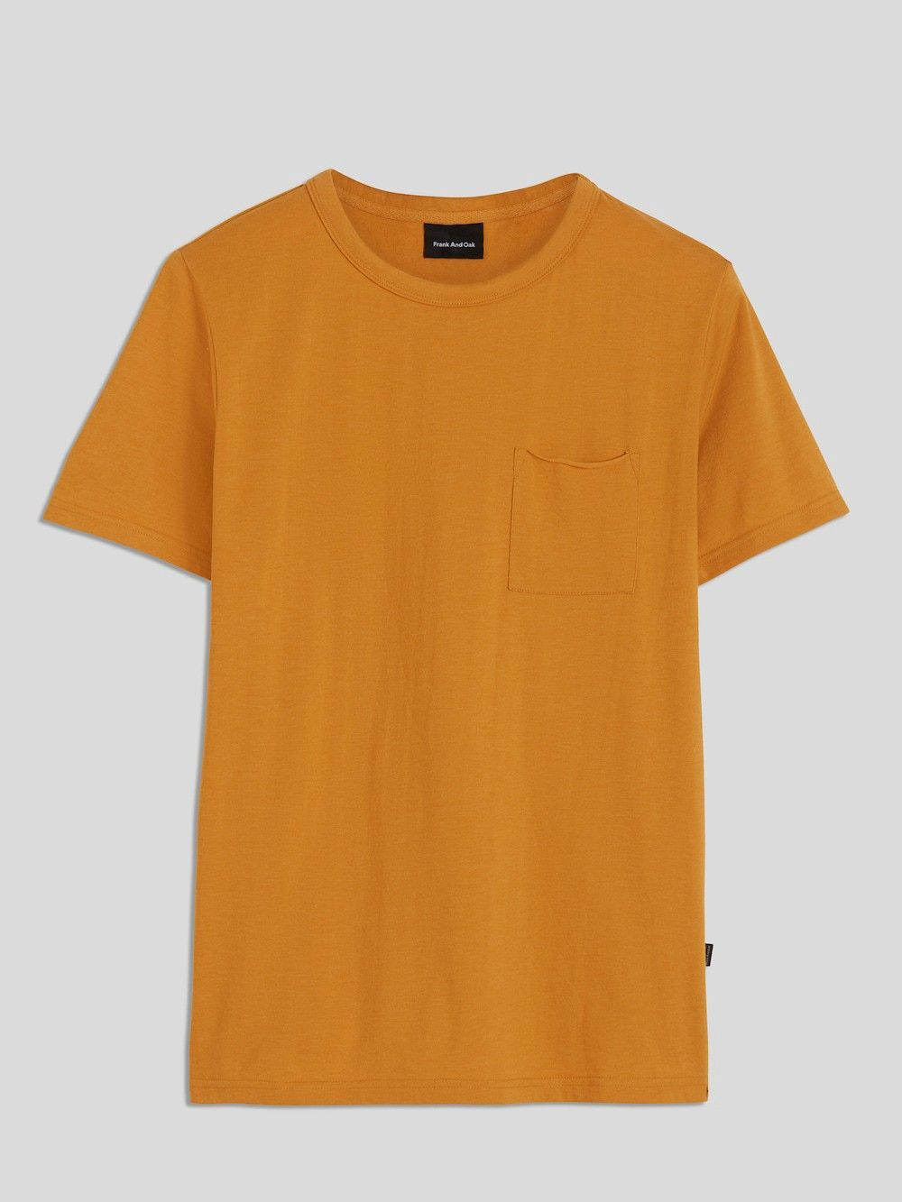8d74699c21 Frank And Oak Loose Fit Organic Cotton-Blend T-Shirt In Gold - XS ...