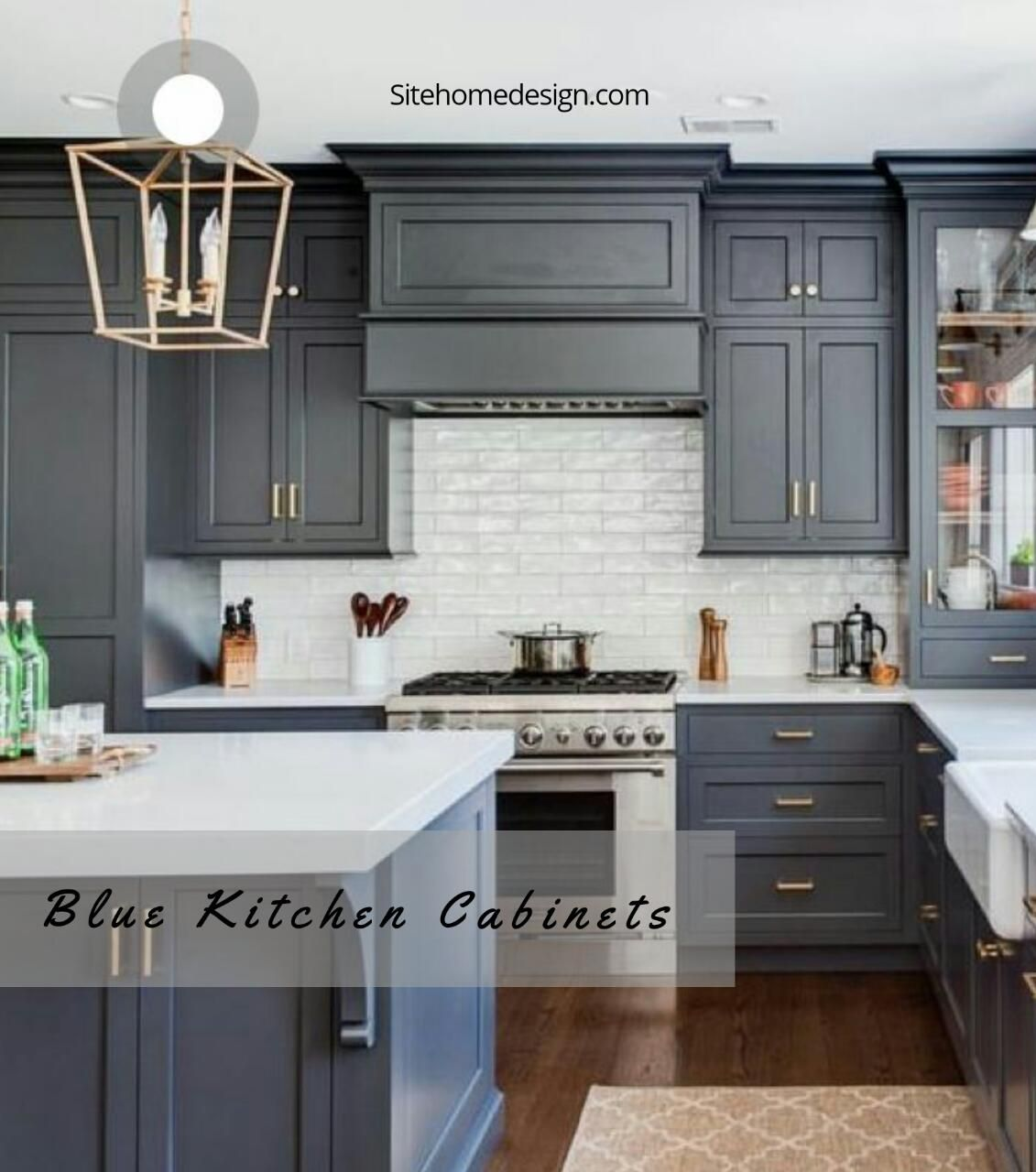 Grey Distressed Kitchen Cabinets: 31 Lovely Blue Kitchen Closet Ideas