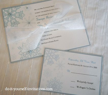 Printable Snowflake Wedding Invitations Template Print And