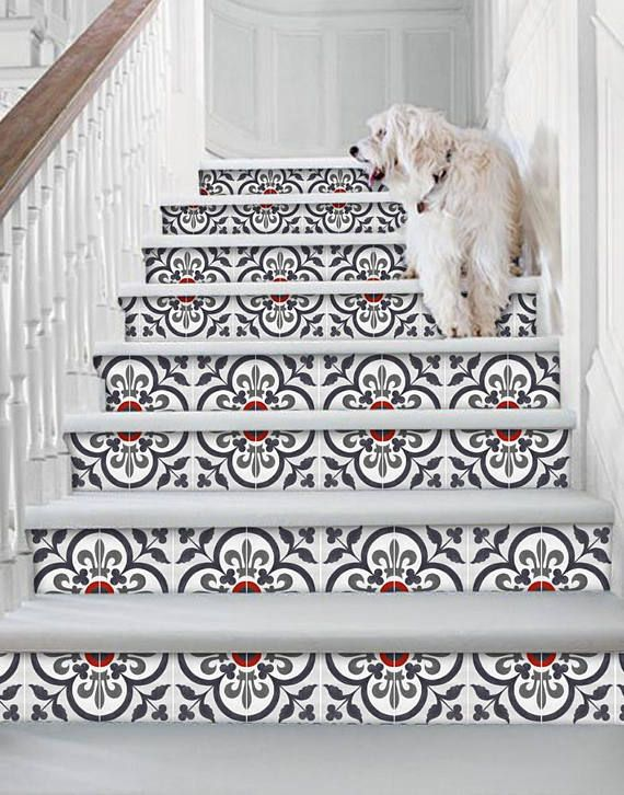Stair riser stickers removable stair riser vinyl decals
