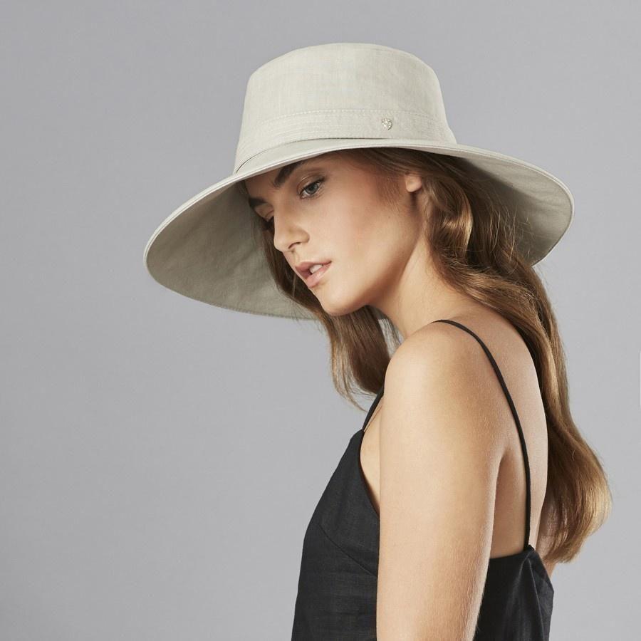 6d7aefa4a Helen Kaminski Anouska Linen Wide Brimmed Hat in 2019 | 2019 ...