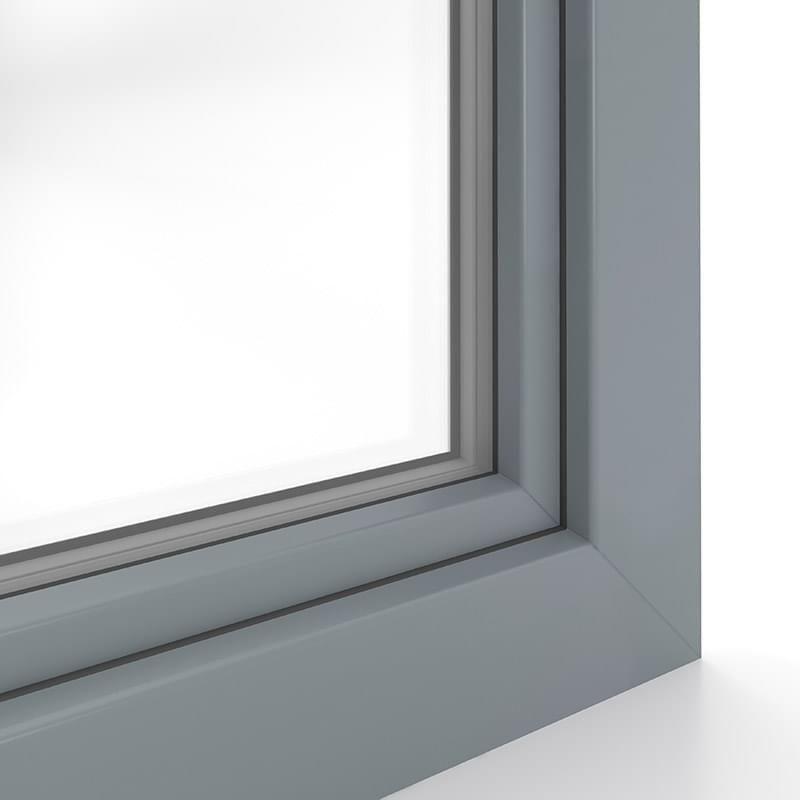 Grau Sandstruktur Fensterfarbe Fenster Kunststoff Fensterrahmen