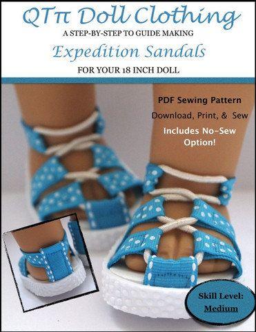 651755a453d04 Pixie Faire QTπ Doll Clothing Expedition Sandals Doll Clothes Shoe ...