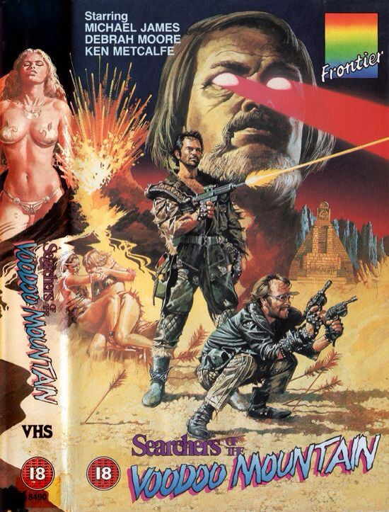 post apocalyptic 80s VHS cover - Searchers Of The Voodoo Mountain (1985) (aka Warriors of the Apocalypse)