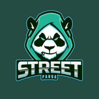Download Placeit Gaming Logo Template Featuring A Panda With A Hoodie Logo Templates Panda Artwork Profile Logo