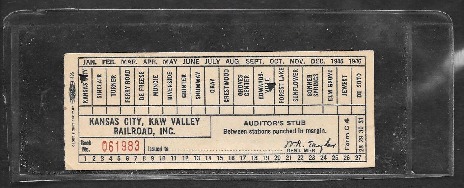 Kansas City (Missouri) Kaw Valley RR., Inc. (1945