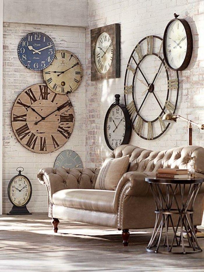 45 idées pour le plus cool horloge géante murale ! | Idées