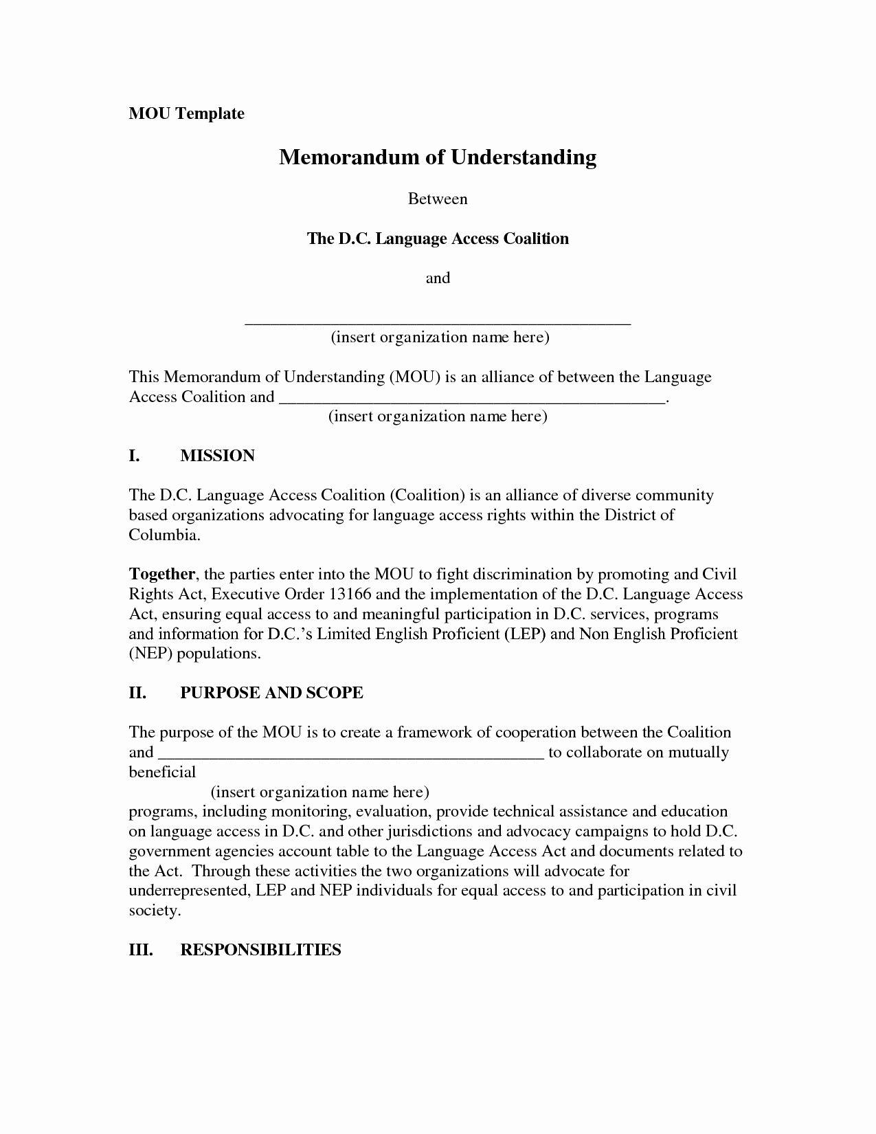 Memorandum Of Agreement Samples In 2020 Memorandum Business