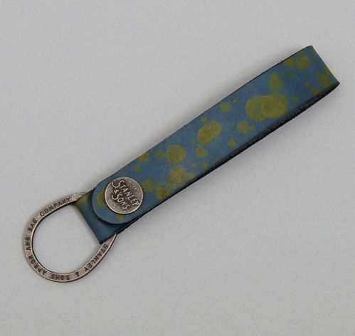 HAND-DYED LEATHER KEY FOB, SPLATTER :: HICKOREES