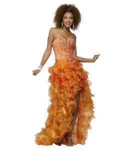 discount golden yellow ruffle corset high low junior prom