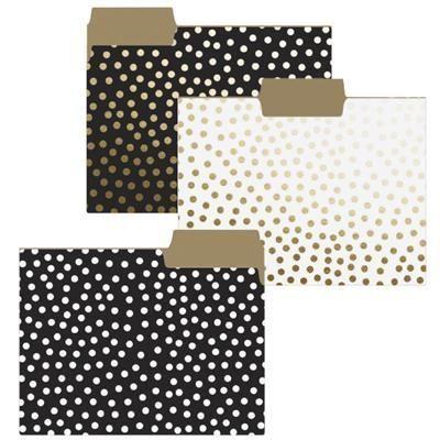 Gold Dots File Folders