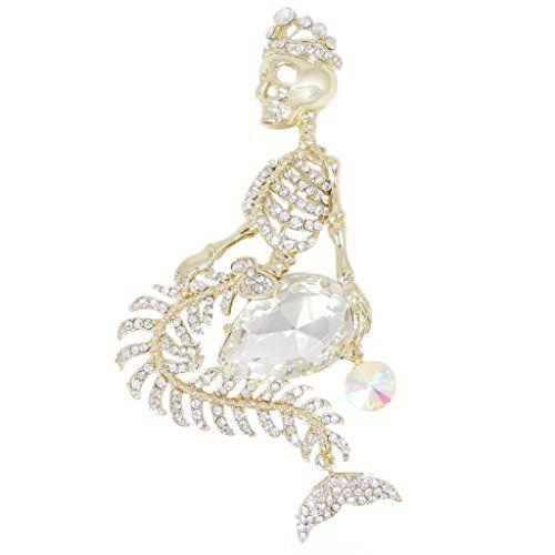 EVER FAITH Gold-Tone Mermaid Skull Crown Teardrop Clear Austrian Crystal Brooch A09501-8 EVER FAITH http://www.amazon.com/dp/B00FF3KR1Y/ref=cm_sw_r_pi_dp_lBuqub1K9J7TJ