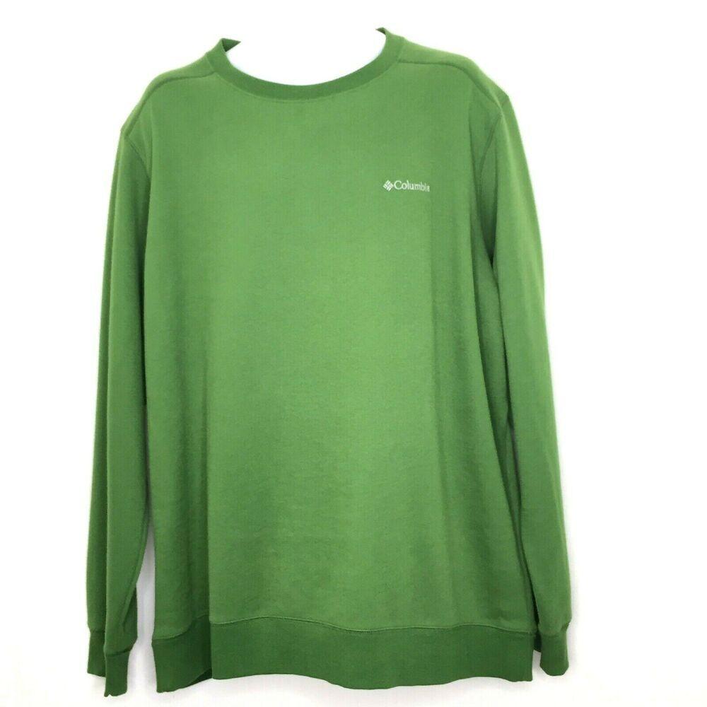 Columbia Men S Long Sleeved Crew Neck Pullover Sweatshirt Xxl Green New Columbia Sweatshirt Pullover Sweatshirt Sweatshirts Men Long [ 1000 x 1000 Pixel ]