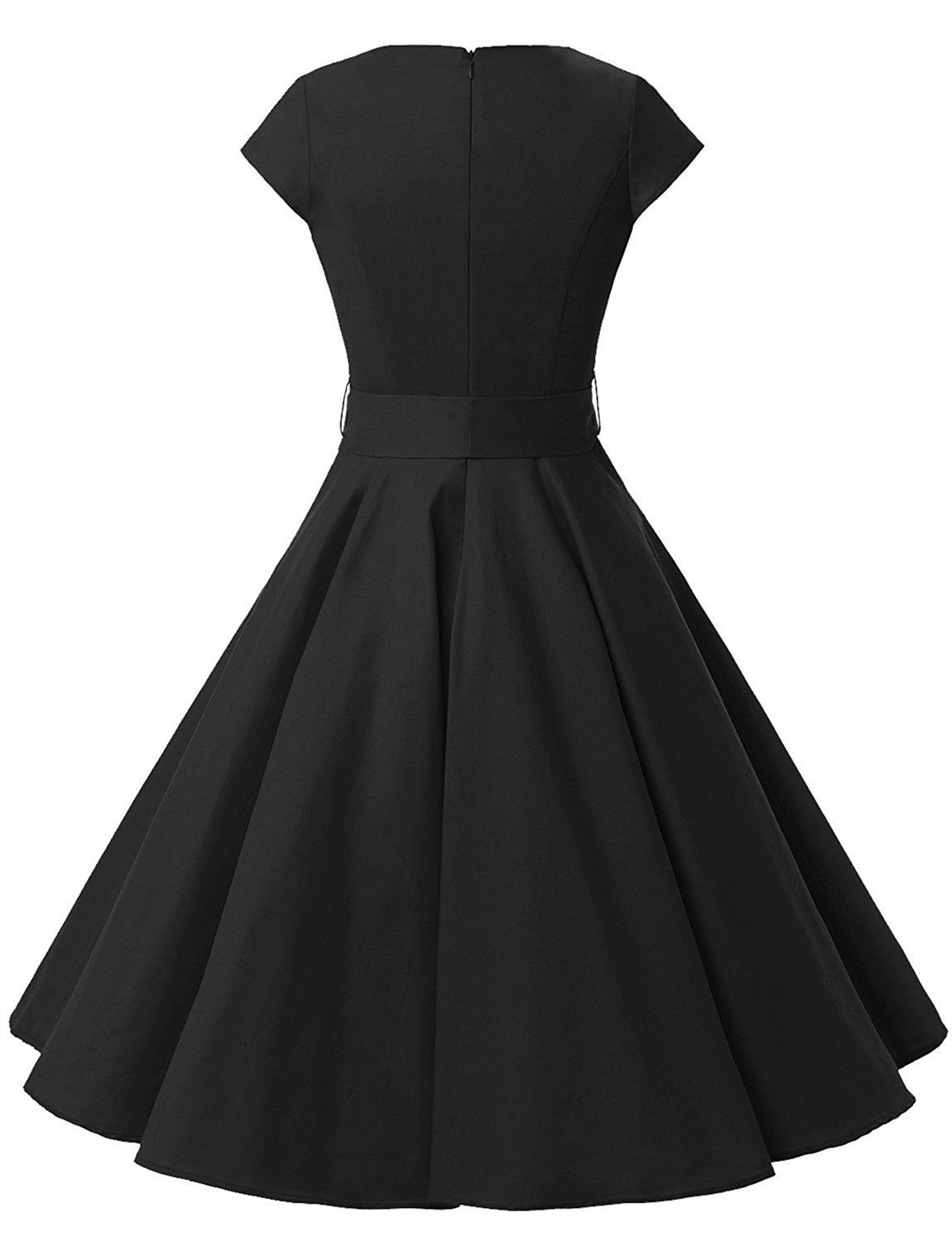 806956539c This elegant short dress features a cap sleeve round neckline.This dress is  perfect for casual or any special occasion. Fabric   Cotton Closure    Zipper ...
