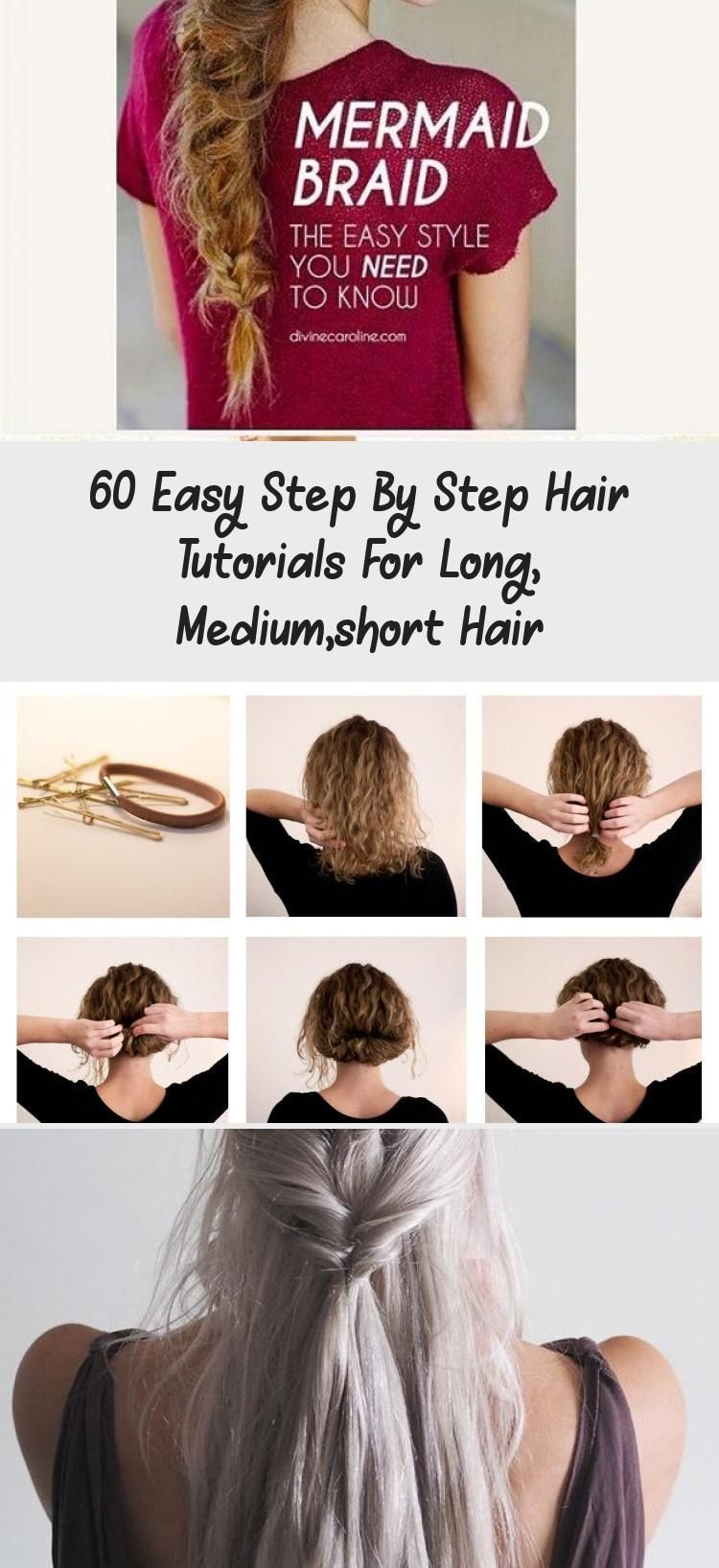 60 Easy Step By Step Hair Tutorials For Long Mediumshort Hair Hairstyle 60 Easy Step By Step Hair In 2020 Hair Tutorial Messy Bun For Short Hair Short Hair Tutorial