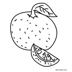 Black And White Orange Clip Art Clip Art Free Fruit Art