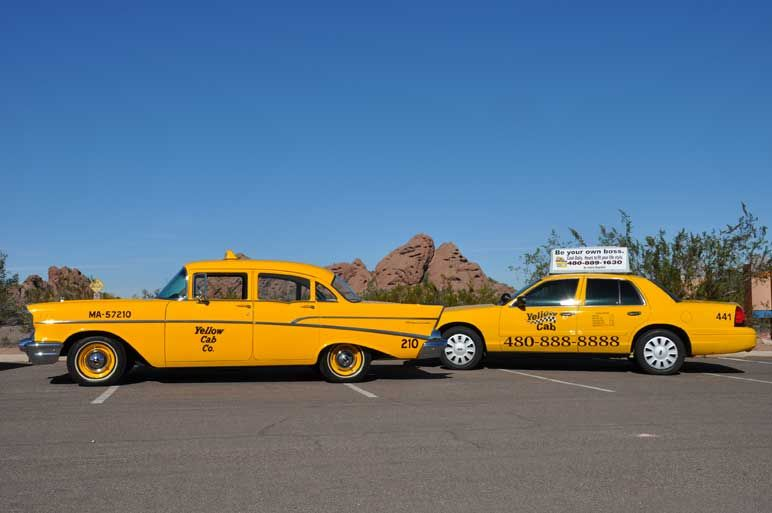 OLD TIME YELLOW TAXI CABS | Contact Info - AAA Yellow Cab Company