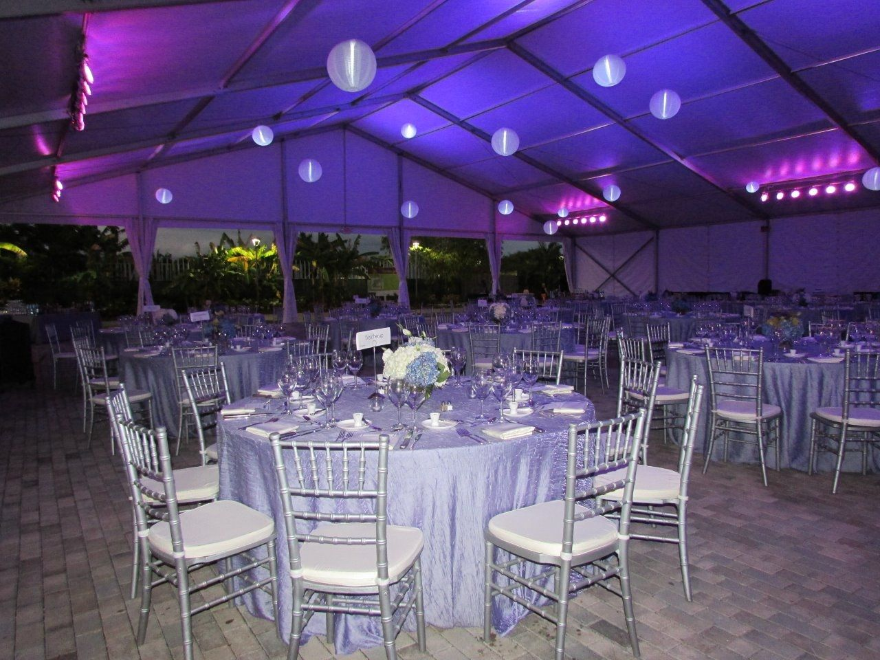 The event tent at the Naples Botanical Garden November 213