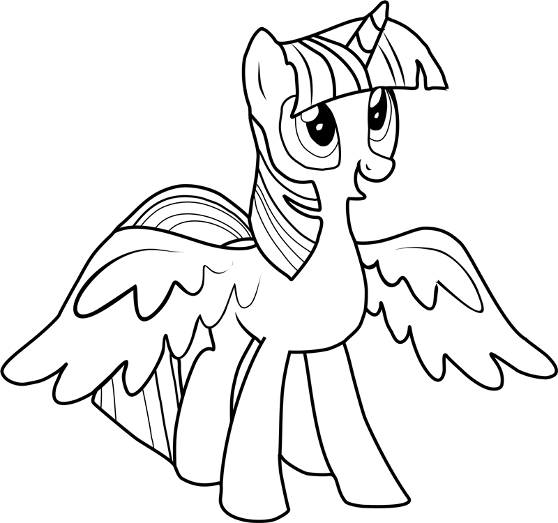 Twilight Sparkle Coloring Pages Coloring pages for kids