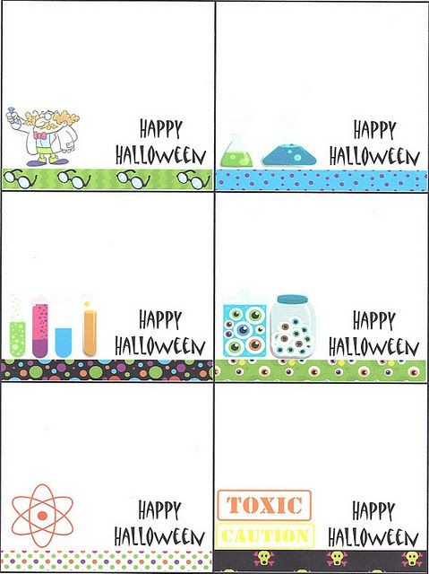 Mad Scientist Halloween Cookies & A FREE Printable for Cookie Tags