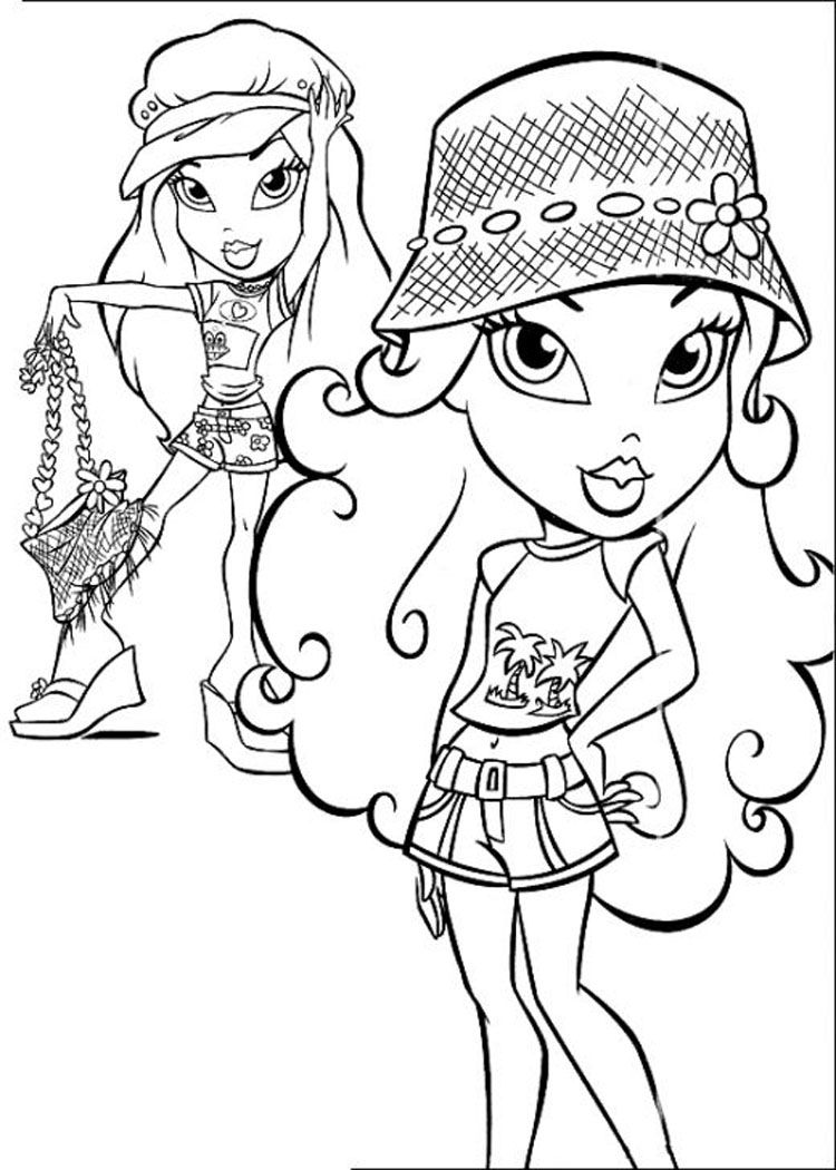 Free Bratz Coloring Page Pages 3 Printable
