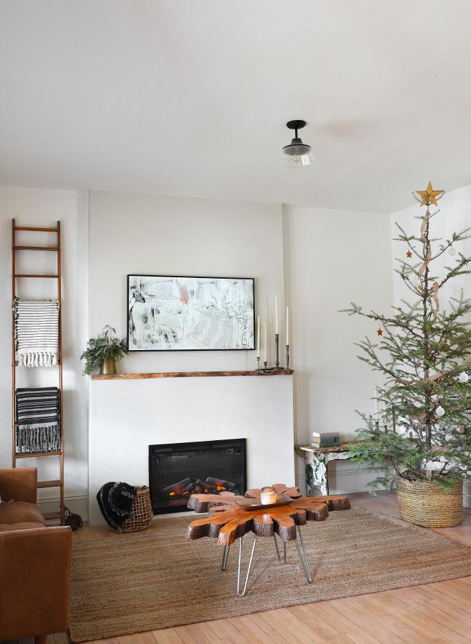 MY DIY Minimalist Live Edge Electric Fireplace I SPY