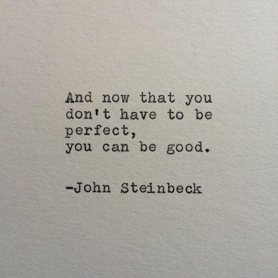 John Steinbeck östlich von Eden Zitat auf Schreibmaschine gemacht #marktwain
