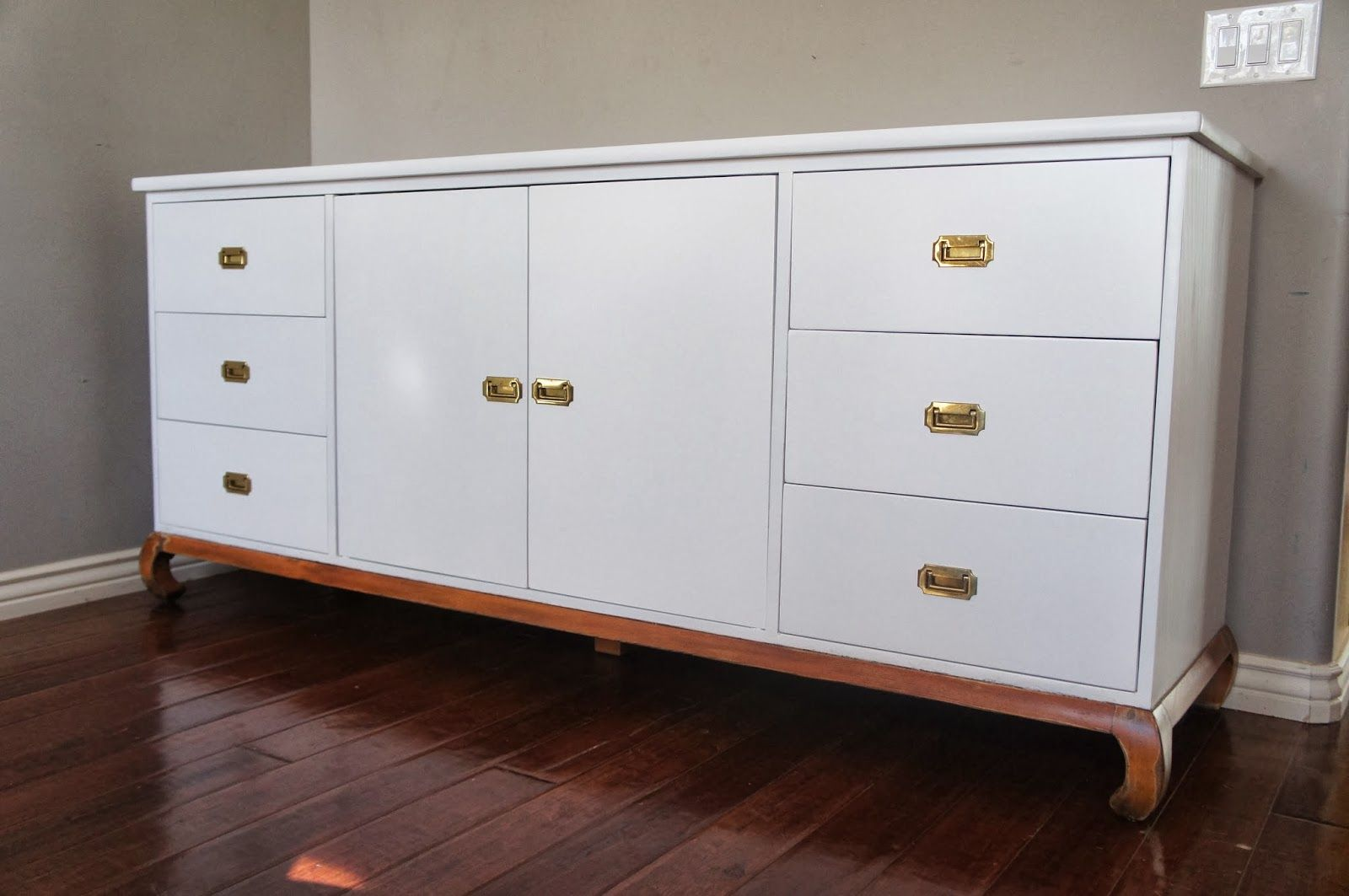 Drawing Of White Lacquer Media Console Lacquer Paint Geometric Furniture Paint Finishes