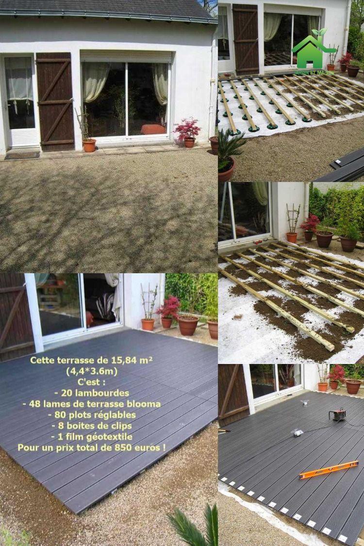 Comment Poser Une Terrasse Composite Sur Lambourdes Et Plots En 2020 Terrasse Composite Terrasse Lame Terrasse