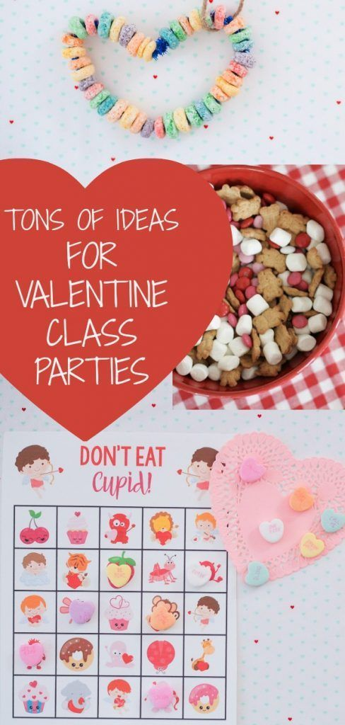 Valentine's Day Class Party Ideas! Click here for easy Valentine school ideas: Valentine games, Valentine crafts, Valentine science, Valentine snacks