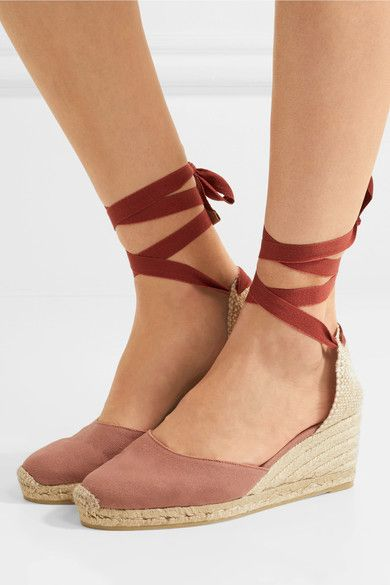 5b15402eaee Castañer - Carina Canvas Wedge Espadrilles - Antique rose | Products ...