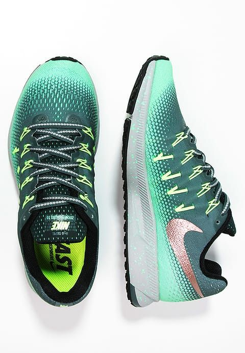 sports shoes 56cf7 9dfc3 Nike Performance AIR ZOOM PEGASUS 33 SHIELD - Laufschuh Neutral -  hasta metallic red bronze green glow ghost green seaweed für 129,95 €  (26.03.17) ...