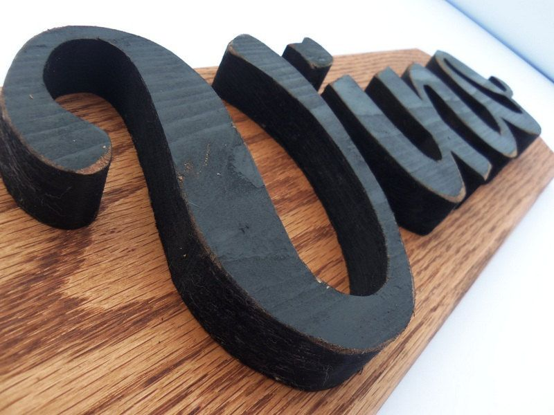 Wood Letter Vino Wall Sign, Wine Sign, Custom 3D Wall Plaque, Wine Home Decor, Distressed Letters. $38.00, via Etsy.