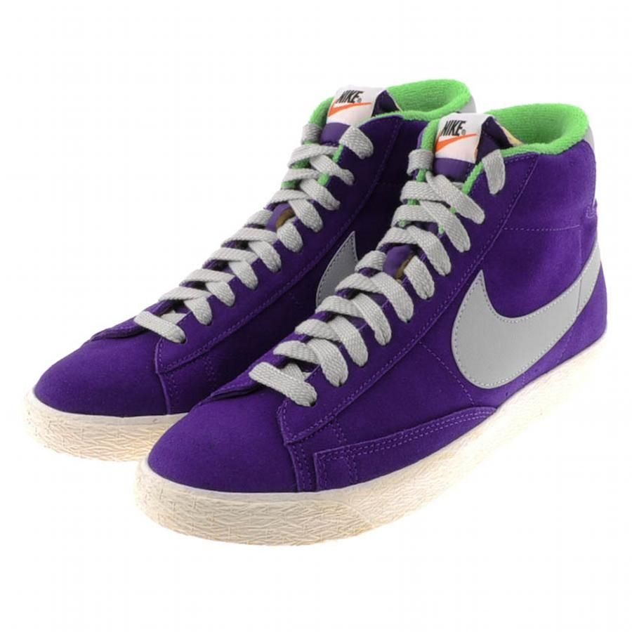 5d25977383 Nike Blazer Mid PRM VTG Suede Trainers Purple | Prèèèmø | Suede ...