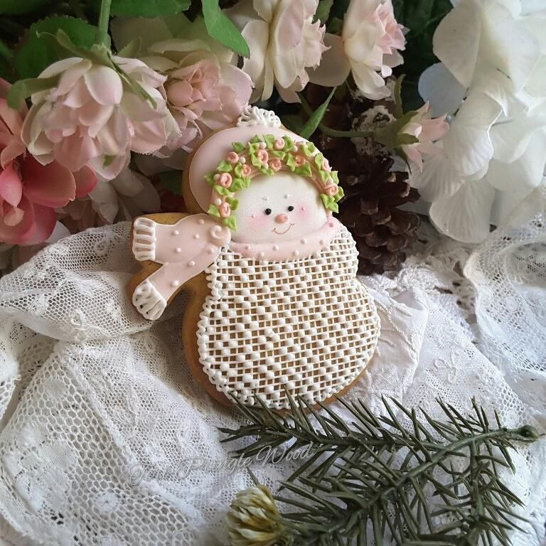 Dainty, lacy snow girl by Teri Pringle Wood