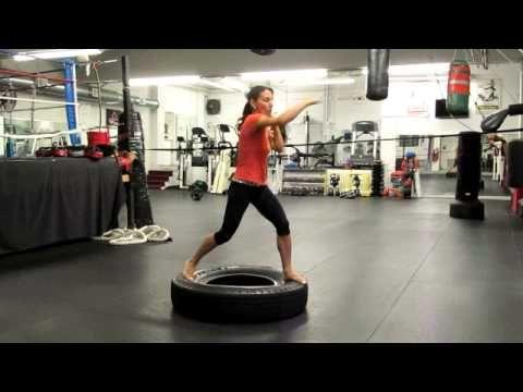 Pow Mma Tire Shadow Boxing Mov Youtube Boxing Techniques Muay Thai Kicks Boxing Training