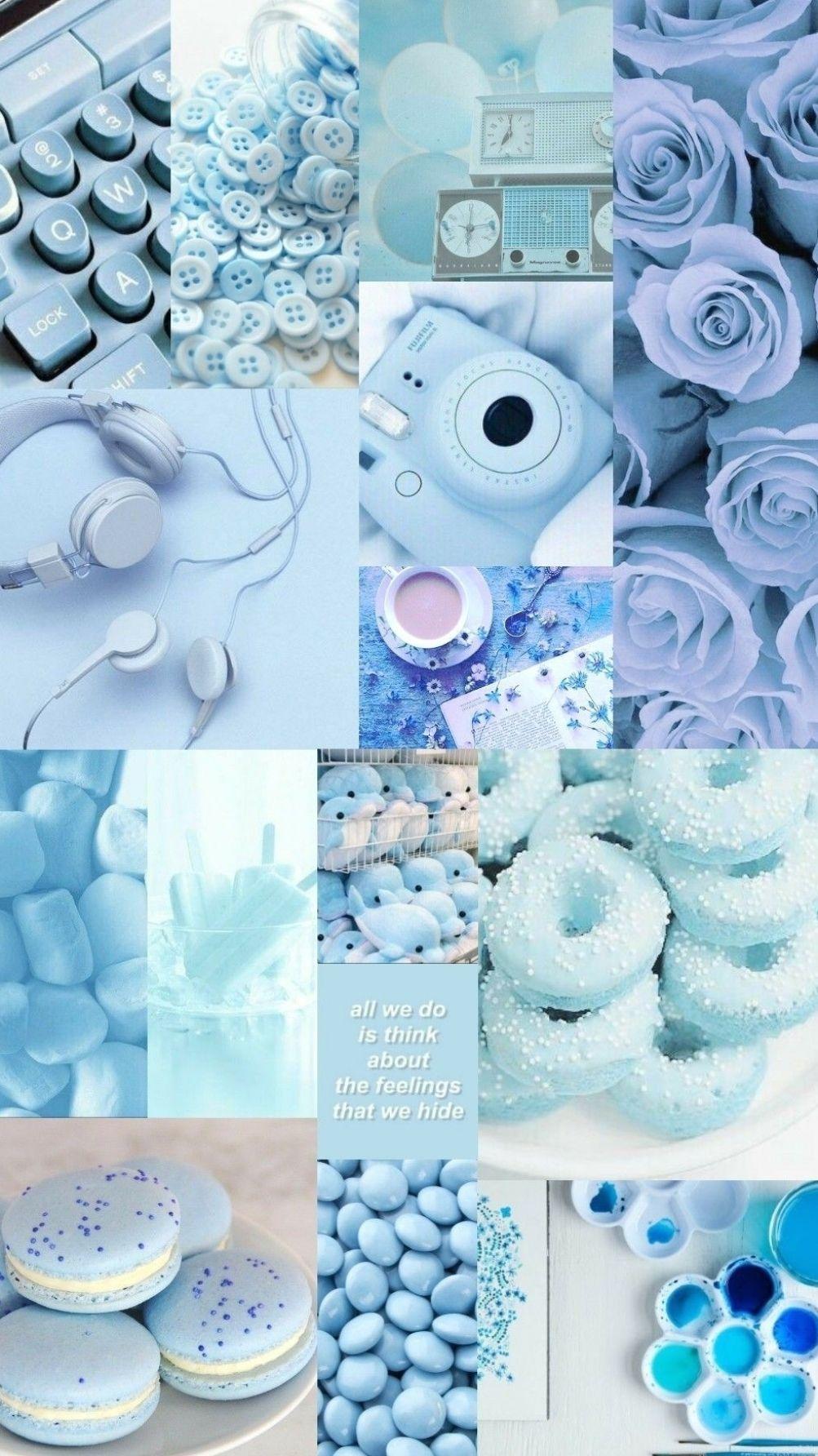 Aesthetic pastel blue 6+ Aesthetic Christmas Wallpaper Desktop 2020