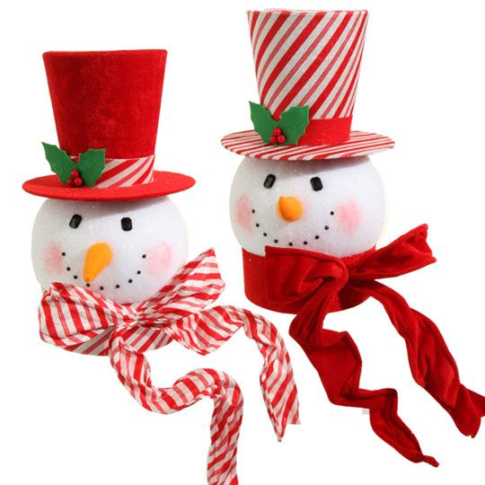 RAZ Snowman Head Peppermint Christmas Tree Topper 14.5 inches  New item in our 2015 Preorder category.  Available summer of 2015