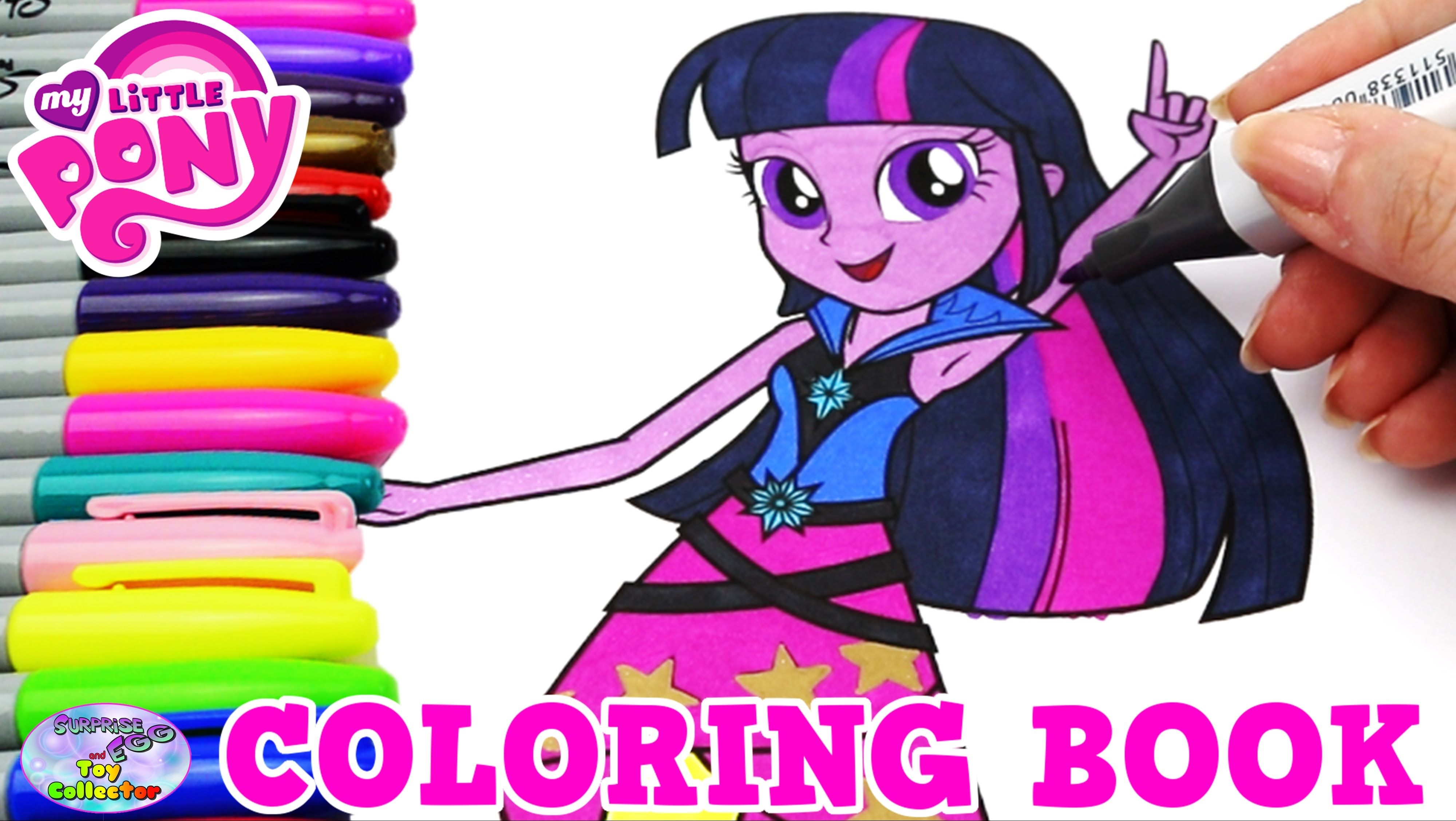My Little Pony Coloring Book MLP EG Twilight Sparkle Episode ...