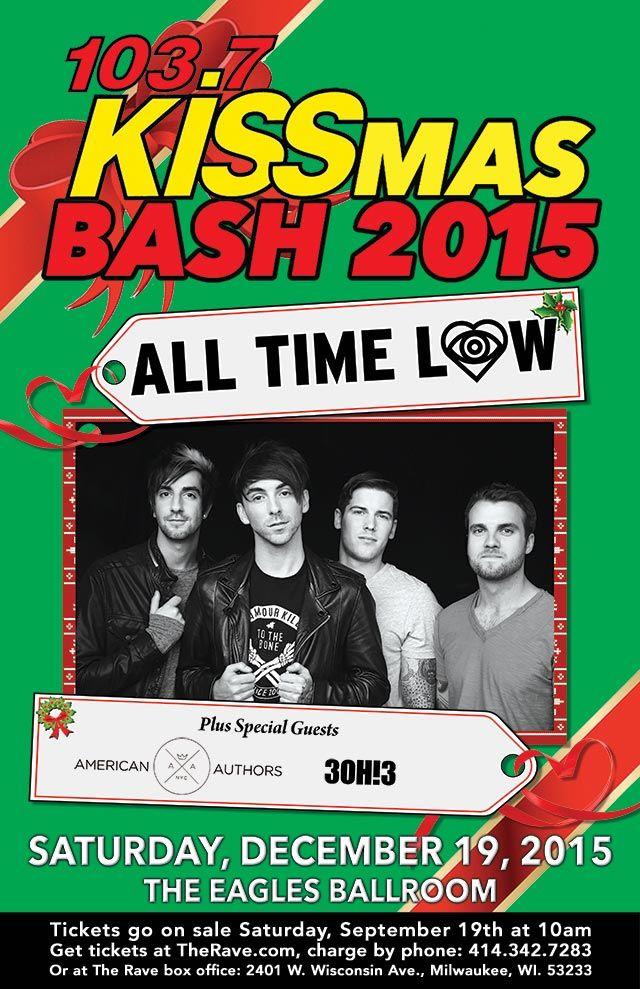 103 7 Kiss Fm Presents Kissmas Bash 2015 All Time Low With