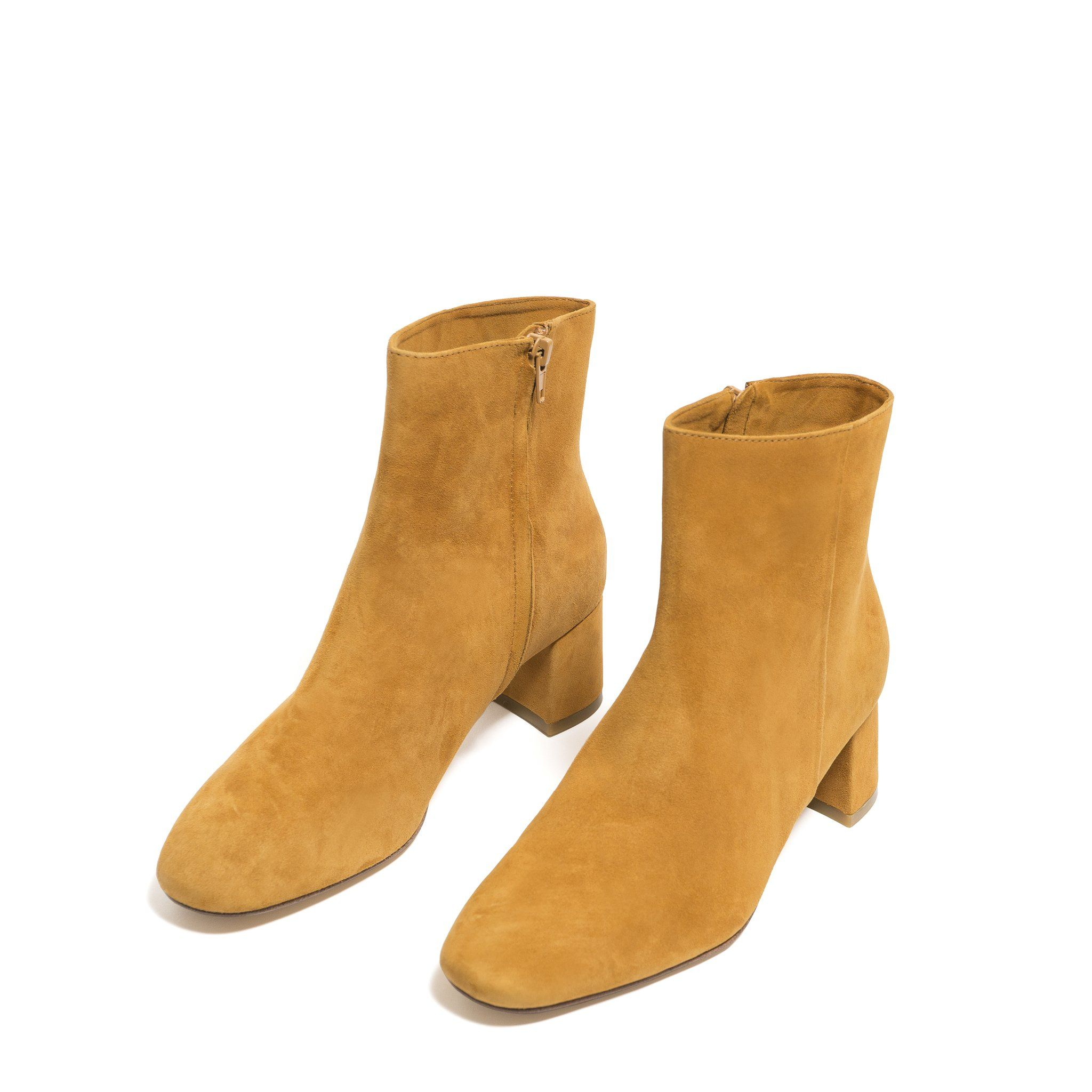 ANKLE BOOT, MUSTARD | Boots, Ankle boot