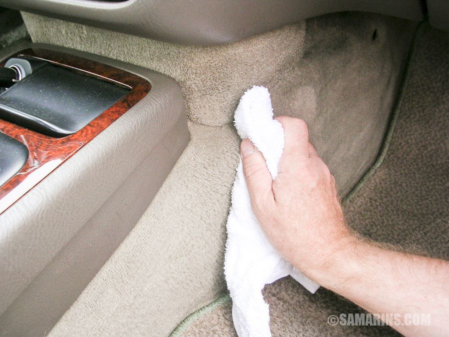 interior polish clean musty smell dash from how