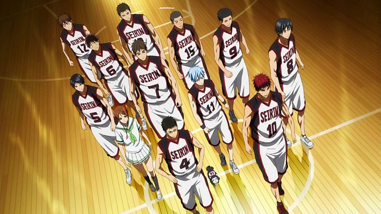 Seirin high basketball team. Kuroko no Basket anime Kuroko