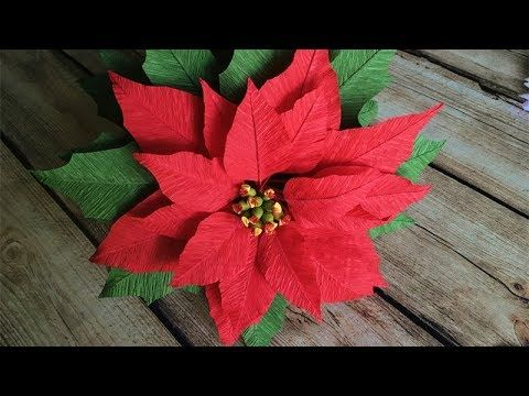 Abc tv how to make poinsettia paper flower from crepe paper abc tv how to make poinsettia paper flower from crepe paper craft tutorial mightylinksfo
