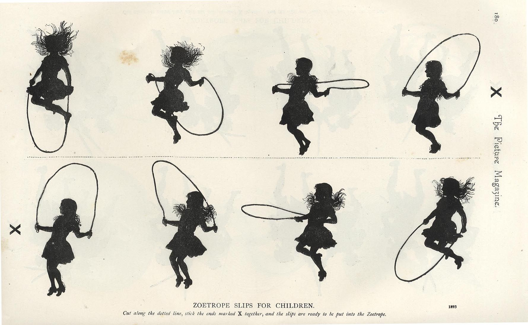 Silhouettes Zootropes 1893 Flip Books Art Flip Book Animation Animated Drawings
