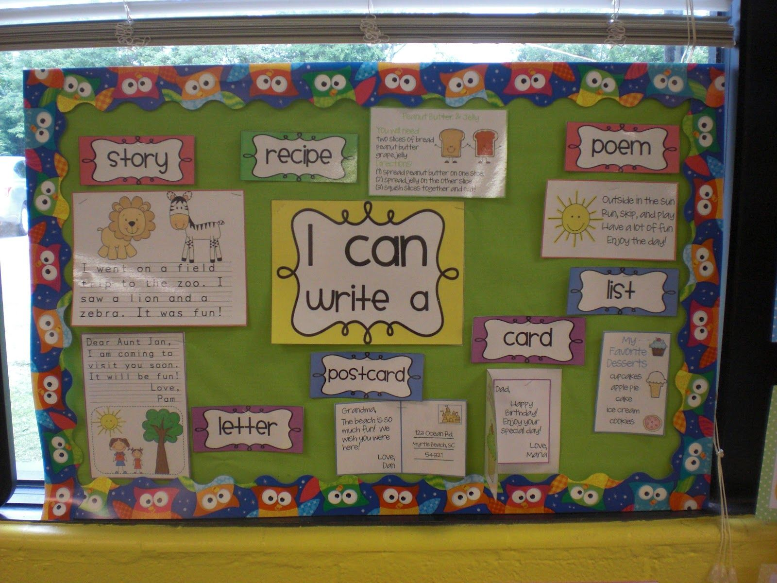 writing center ideas for first grade