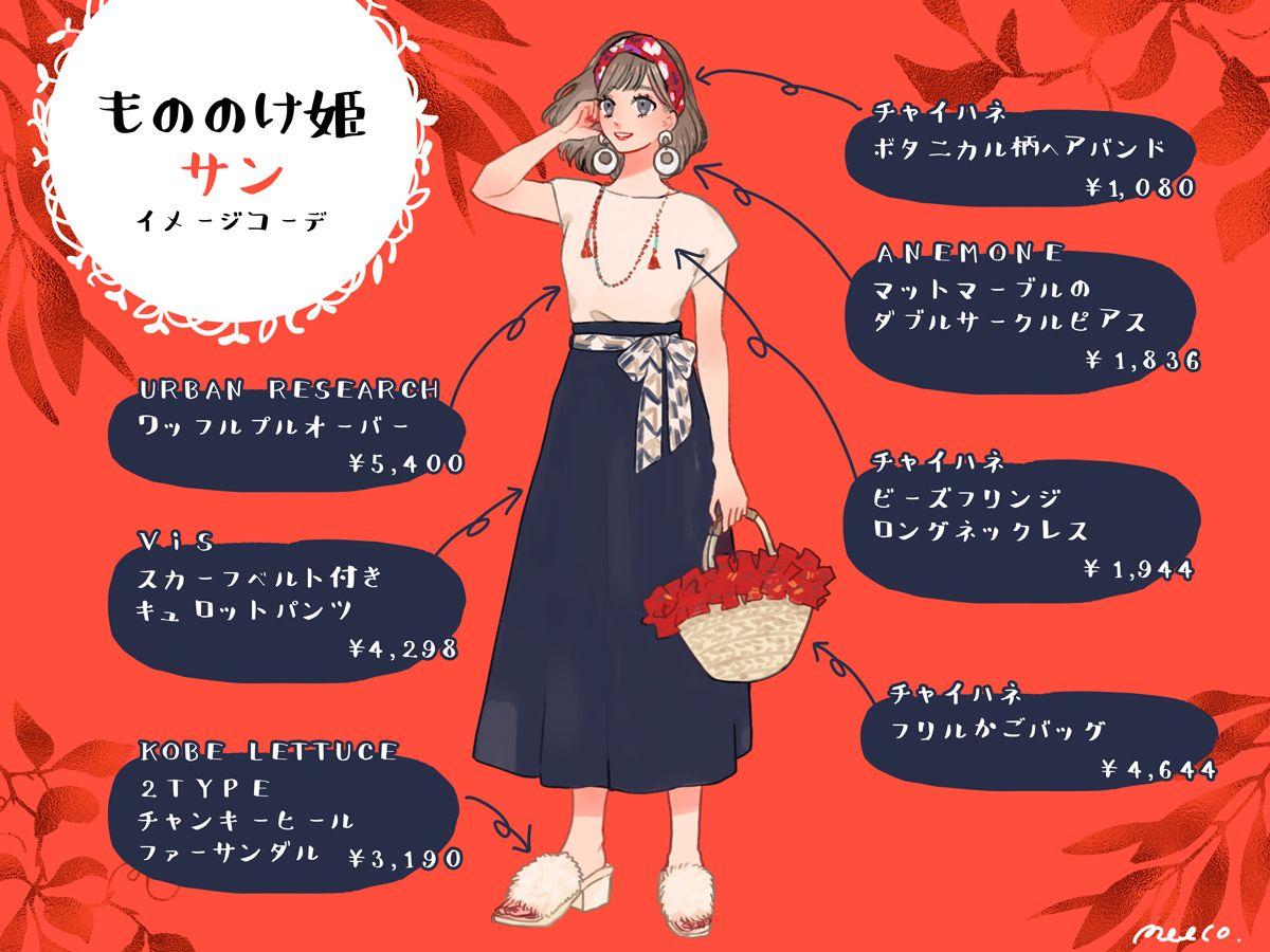 強い女性像は羨望の的 もののけ姫 サンのイメージコーデ 趣味女子を応援するメディア めるも ディズニー風ファッション もののけ姫 強い女性