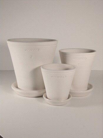 Ben Wolff Pottery Three Flower Pots In White Clay Flower Pots White Clay Clay Pots