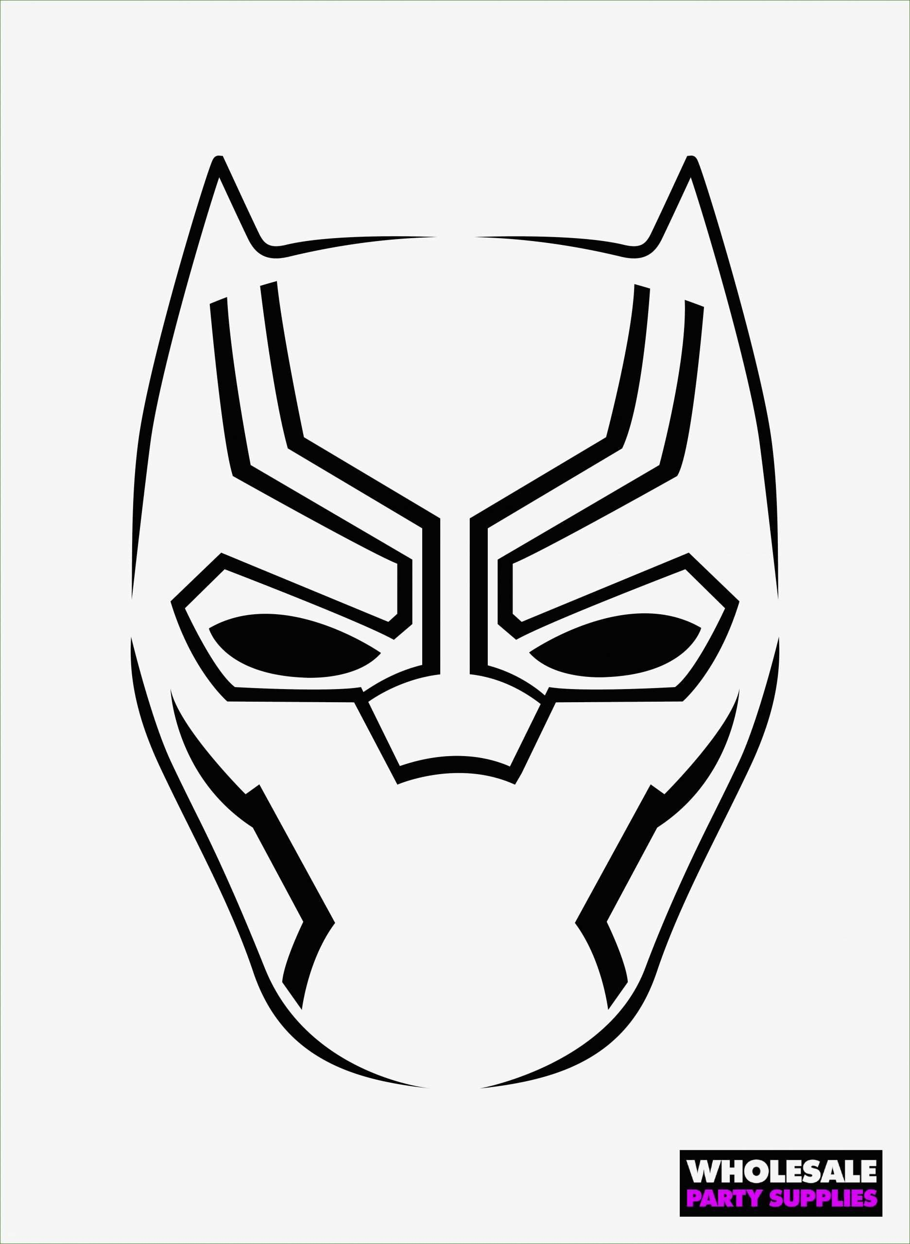 12 excellent black panther mask template in 2020